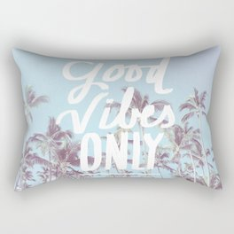 Good Vibes Only (palm trees) Rectangular Pillow