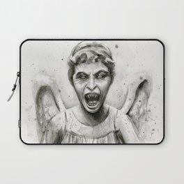 Weeping Angel Watercolor Laptop Sleeve