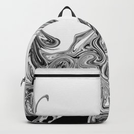 Modern contemporary Black and White Abstract Backpack