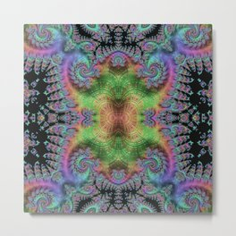 Psychedelic Fractal Kaleidoscope Metal Print