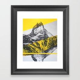 brocken mountain Framed Art Print