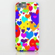 Beaucoup de coeurs de couleur Slim Case iPhone 6s