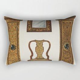 Vintage Edwardian Furniture Illustration Rectangular Pillow