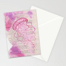 pink jellyfish Stationery Cards