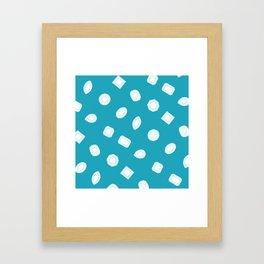 Blue Moissy Gem Pattern Framed Art Print