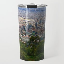 Mount Monserrate, with a 10,000 ft view of Bogota Colombia Travel Mug