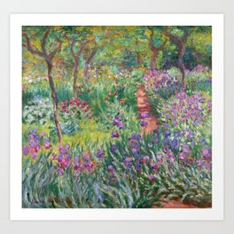The Iris Garden at Giverny by Claude Monet Art Print