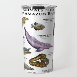 Animals of the Flooded Amazon Rainforest Travel Mug