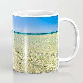 The beach of Chia su Giudeu, Sardinia Coffee Mug