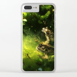 Frogs & Newts in the Garden Pond Clear iPhone Case