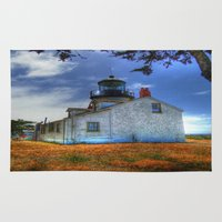 lighthouse Area & Throw Rugs featuring Lighthouse by Christine Workman