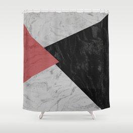 MARBLE TRIANGULES Shower Curtain