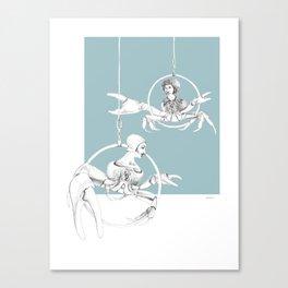 Weird & Wonderful: Crab Circus Canvas Print