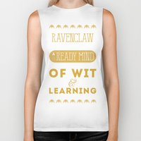 ravenclaw Biker Tanks featuring Ravenclaw by Dorothy Leigh