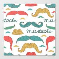 mustache Canvas Prints featuring Mustache by olillia