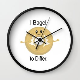 I Bagel to Differ Wall Clock