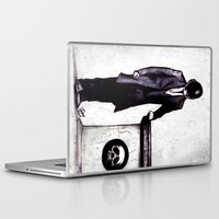 cyberpunk Laptop & iPad Skins featuring Life's Course You Flunk, Compute and Cyberpunk by Zombie Rust