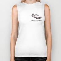 delorean Biker Tanks featuring Delorean by ruvaen