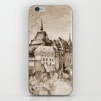 castle iPhone & iPod Skins featuring Castle by Bunny Noir