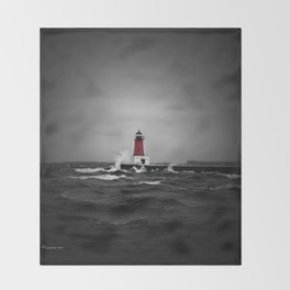 Lighthouse Glow Throw Blanket