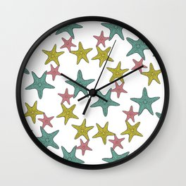 starfish tropical print Wall Clock