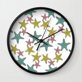starfish tropical print Wall Clock