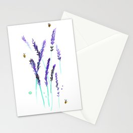 Lavender & Bees Stationery Cards