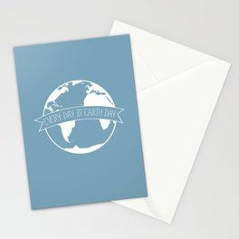 Every Day is Earth Day - white Stationery Cards