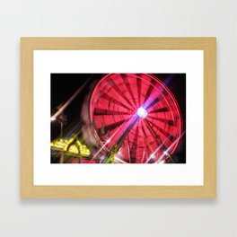 Spinning Your Wheels the ferris wheel carnival ride Framed Art Print
