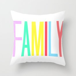 FAMILY bright colors 8x10 Throw Pillow