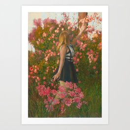 The Art Of Watching A Flower Grow Art Print