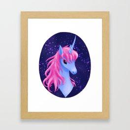 Unicorn Portrait Framed Art Print