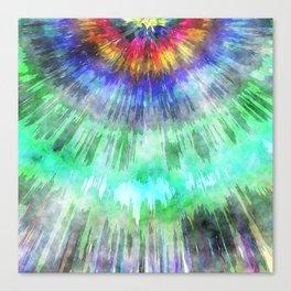 Textured Tie Dye Starburst Canvas Print