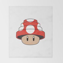 Are We Not Mushroom Throw Blanket