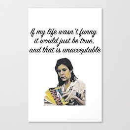 Carrie Fisher Funny Quote Canvas Print