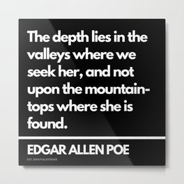 93 Edgar Allen Poe Quotes   201012  Existentialism Nihilism Existentialist Philosophy Writer Raven L Metal Print