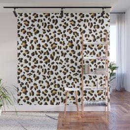 Golden Leopard Spots Wall Mural