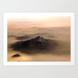 The West is Burning - Mt Shasta - nature photography Art Print