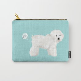 Bichon Frise dog breed funny dog fart Carry-All Pouch