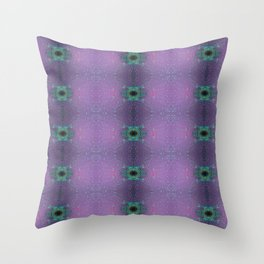 Silicon-based life form - E5 purple Throw Pillow