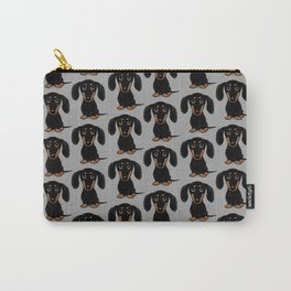 Black and Tan Shorthaired Dachshund Carry-All Pouch