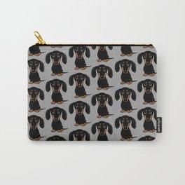 Black and Tan Dachshund | Cute Cartoon Wiener Dog Carry-All Pouch