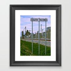 Historic South Tacoma Framed Art Print