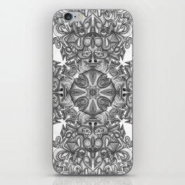black, white and gray  iPhone Skin