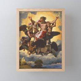 """Raffaello Sanzio da Urbino """"Ezekiel's Vision"""", 1518 Framed Mini Art Print"""