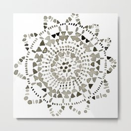 Watercolor Doily - Katrina Niswander Metal Print