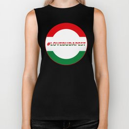 Hashtag Love Budapest, circle, color Biker Tank