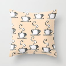 Cups Of Coffee Throw Pillow