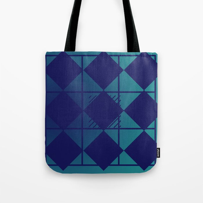 Blue,Diamond Shapes,Square Tote Bag