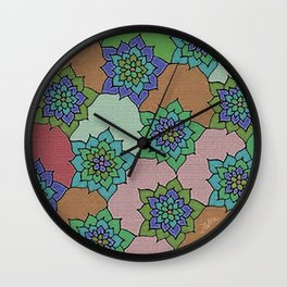 zakiaz autumn lotus Wall Clock